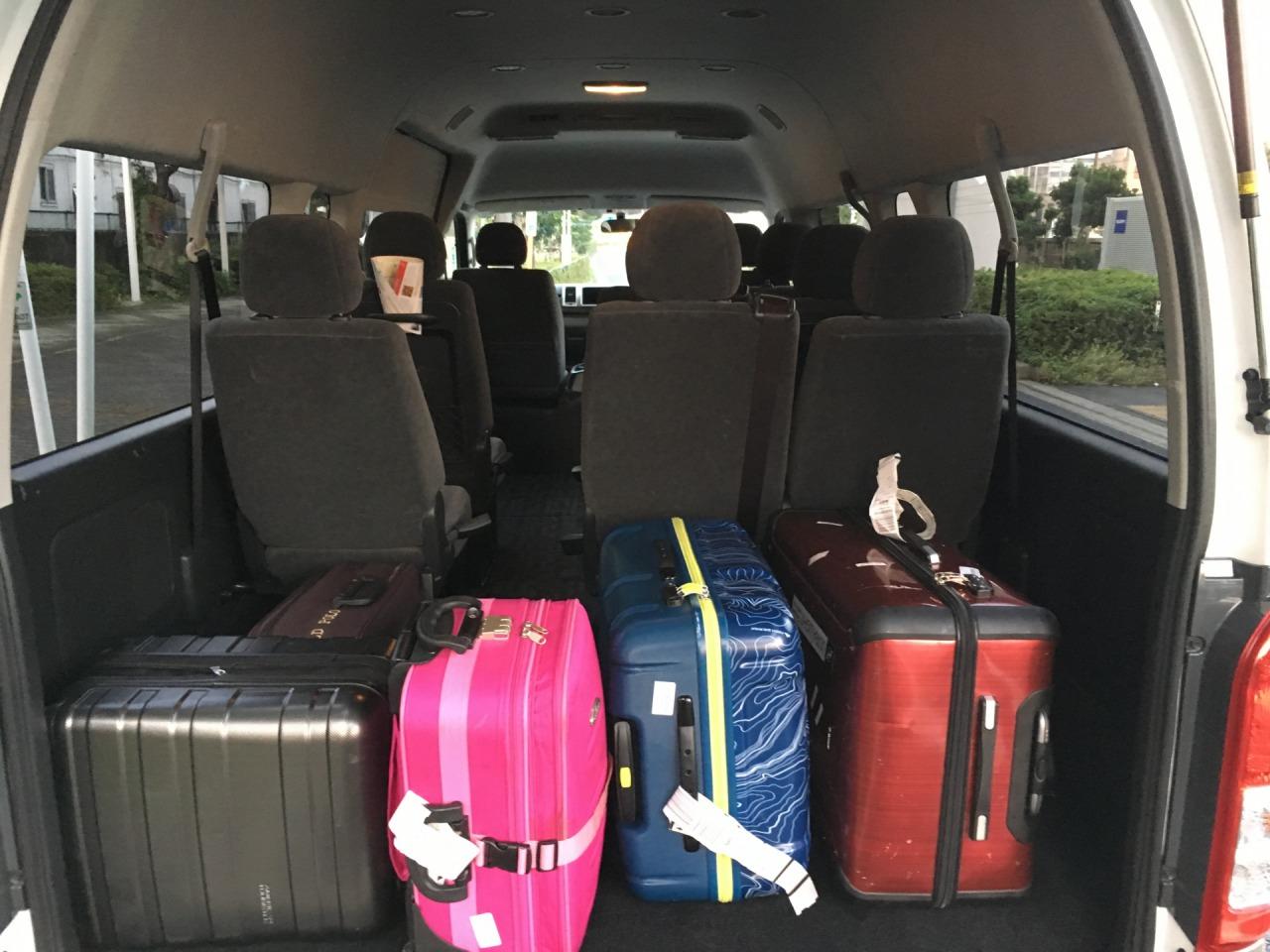スーツケース車載