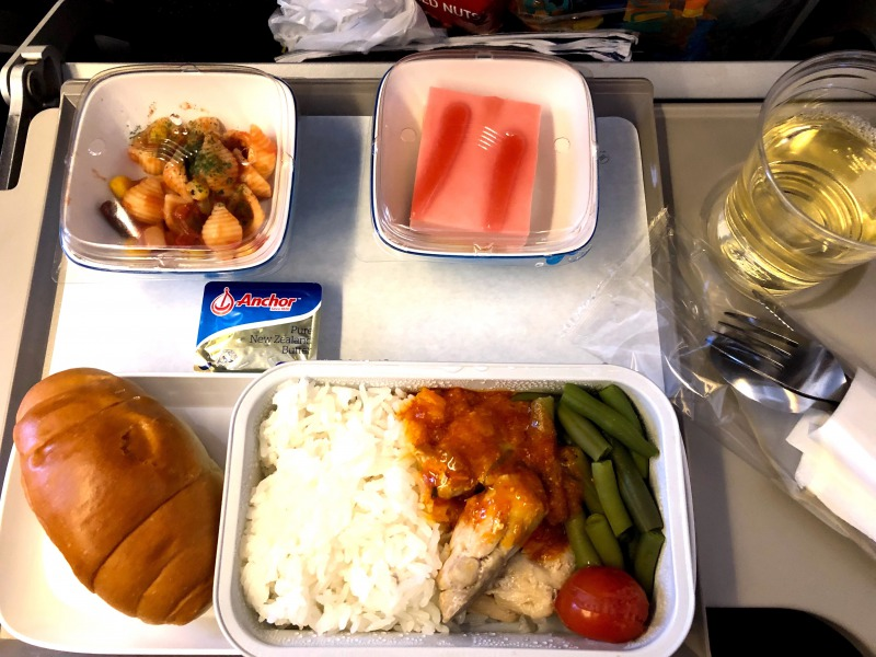 ガルーダインドネシア航空機内食インドネシア料理