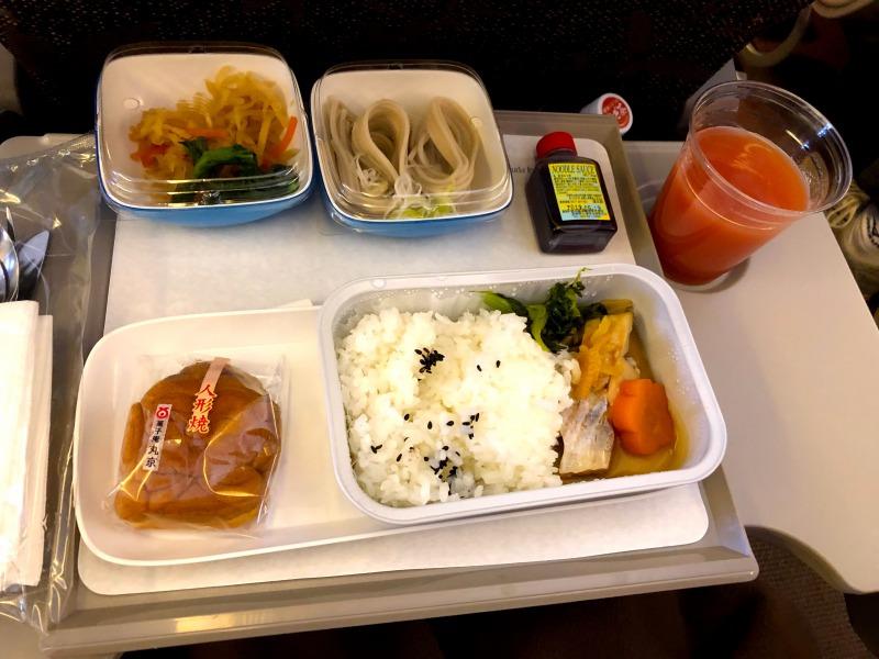 ガルーダインドネシア航空機内食和食