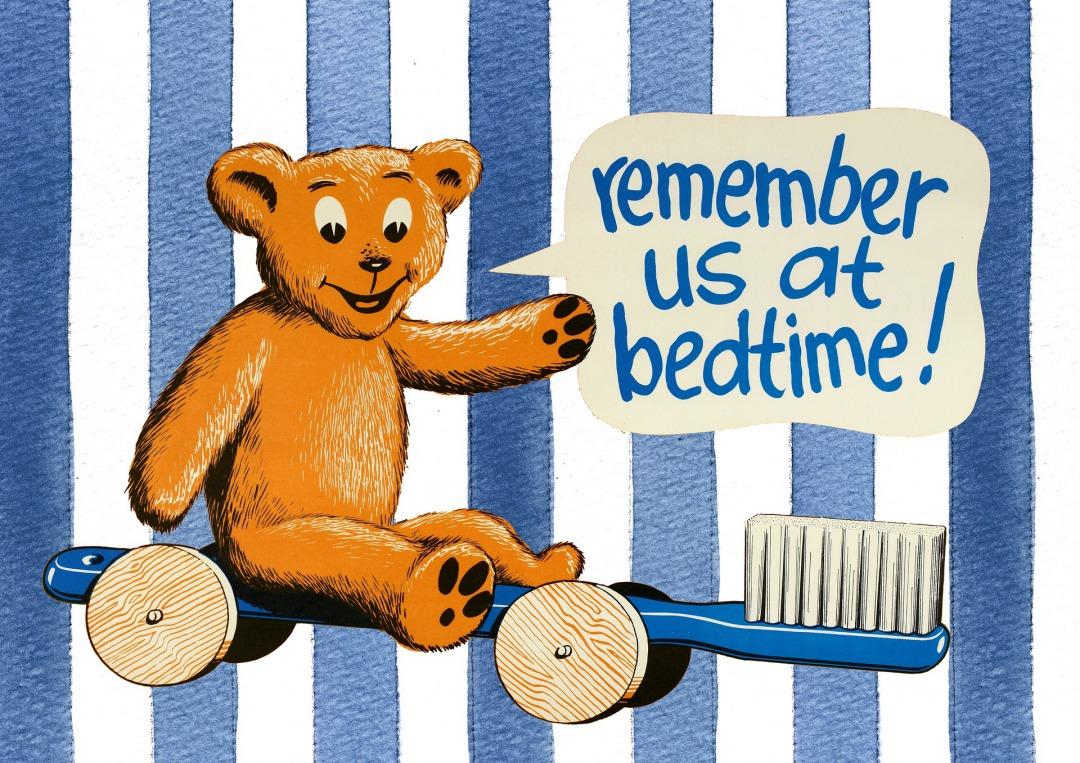 寝る前は歯磨き