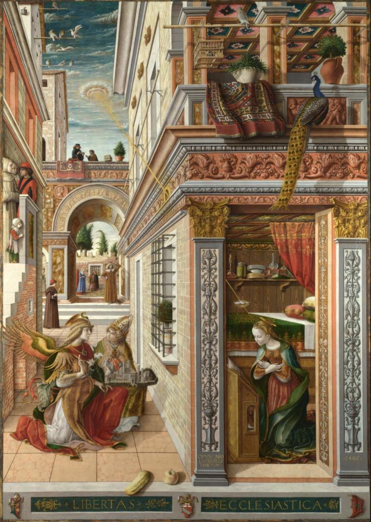 カルロ・クリヴェッリ「聖エミディウスを伴う受胎告知」