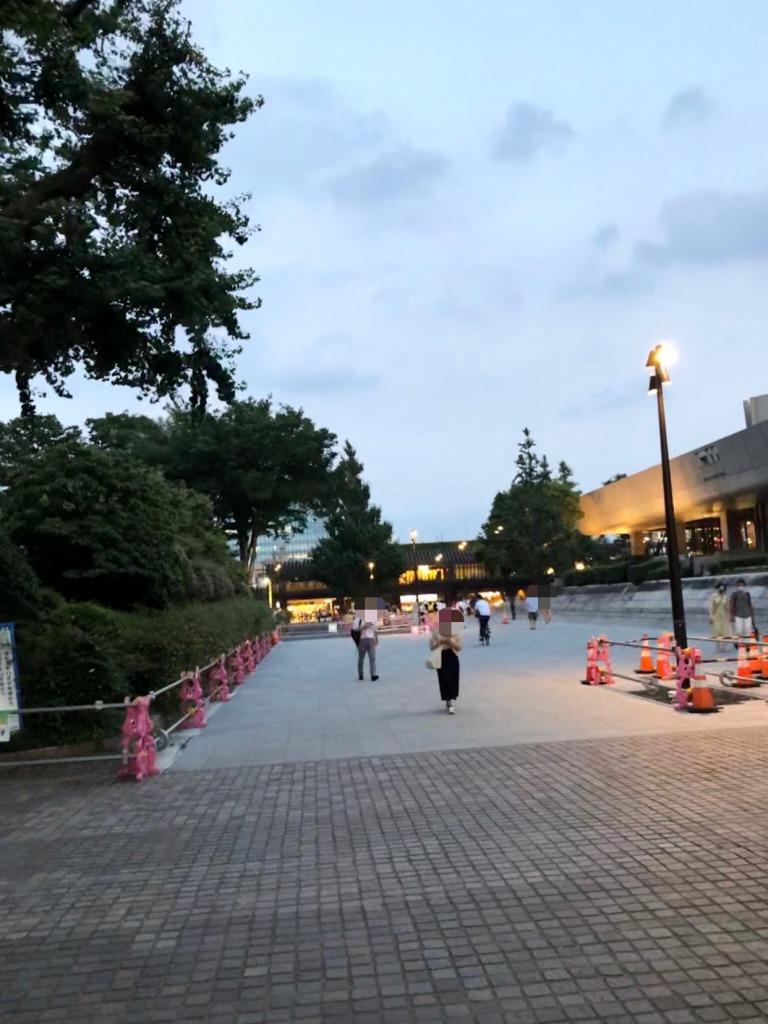 上野駅から国立西洋美術館横