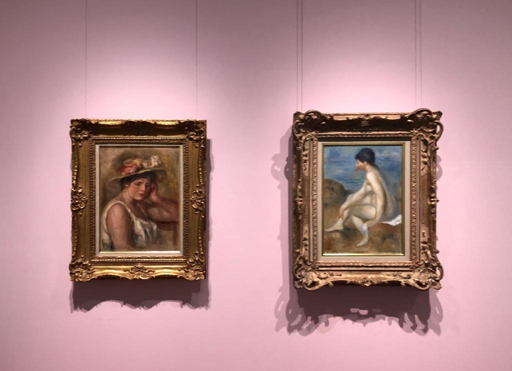 ルノワール 浴女と帽子の女