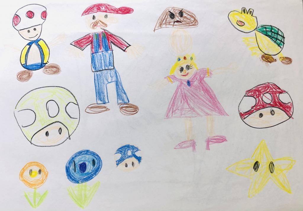 娘の書いたマリオのイラスト